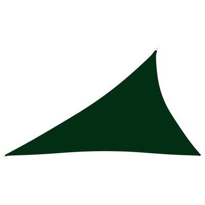 vidaXL Parasolar, verde închis, 4x5x6,4 m țesătură oxford triunghiular