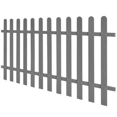 vidaXL Gard din șipci, 200 x 100 cm, WPC