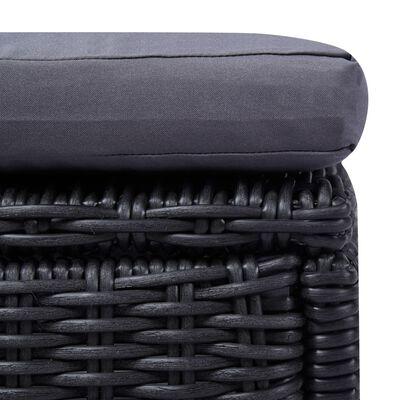 vidaXL Set mobilier pentru grădină, 9 piese, negru