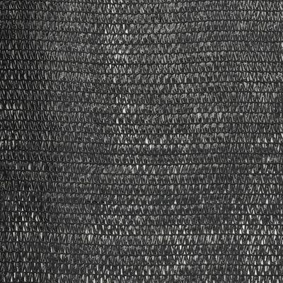 vidaXL Plasă protecție vizuală, negru, 1,5 x 25 m, HDPE