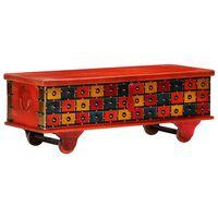 vidaXL Ladă de depozitare, roșu, 110x40x40 cm, lemn masiv de acacia