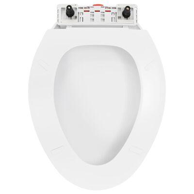 vidaXL Capac WC închidere silențioasă, eliberare rapidă, alb
