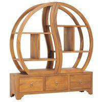 vidaXL Dulap cu raft Yin Yang, 100 x 26 x 112 cm, lemn masiv de tec