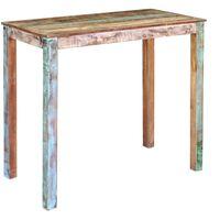 vidaXL Masă de bar, 115x60x107 cm, lemn masiv reciclat