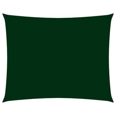 vidaXL Parasolar verde închis 3,5x4,5m țesătură oxford dreptunghiular