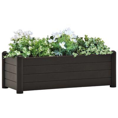 vidaXL Strat înălțat de grădină, antracit, 100 x 43 x 35 cm, PP