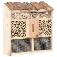 vidaXL Casă de insecte, 30x10x30 cm, lemn de brad