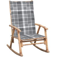 vidaXL Scaun balansoar cu pernă, bambus