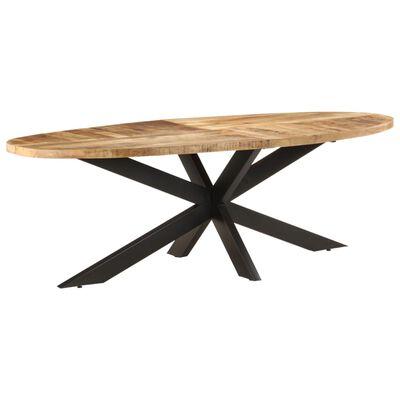 vidaXL Masă de bucătărie, 240x100x75 cm, lemn de mango nefinisat