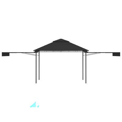 vidaXL Pavilion cu acoperiș dublu extins 3x3x2,75 m antracit 180 g/m²