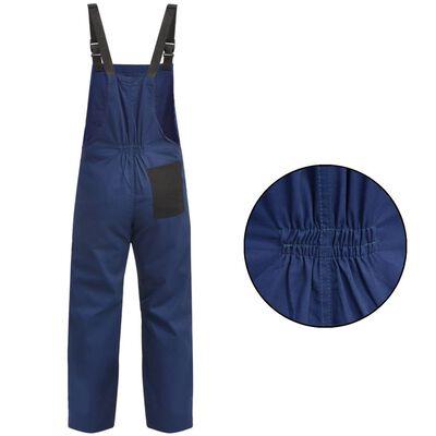vidaXL Salopetă cu pieptar pentru bărbați, mărime L, albastru