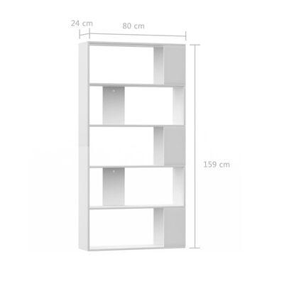 vidaXL Bibliotecă/Separator cameră, alb, 80x24x159 cm, PAL