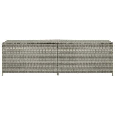 vidaXL Ladă de depozitare de grădină, gri, 200x50x60 cm, poliratan