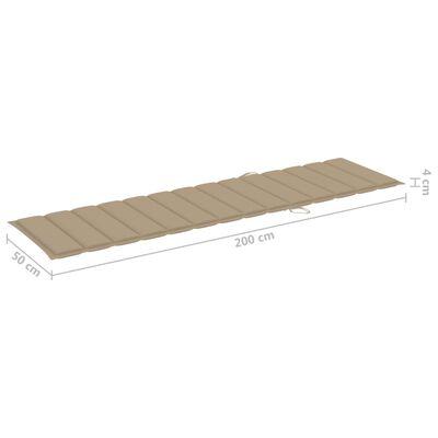vidaXL Șezlonguri, 2 buc., cu masă și pernă, lemn masiv de tec