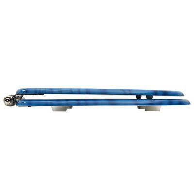 vidaXL Scaune WC capac silențios, 2 buc., albastru, MDF, model stropi