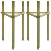 vidaXL Araci pentru copaci, 2 buc., 50x45x150 cm, lemn de pin tratat