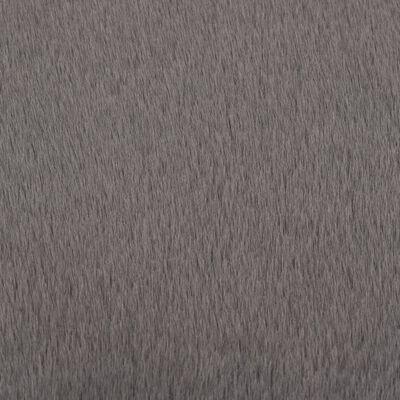 vidaXL Covor, gri închis, 160 cm, blană ecologică de iepure