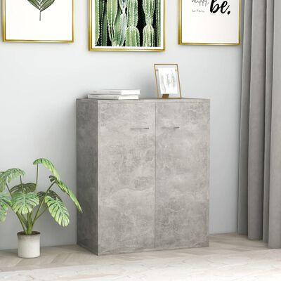 vidaXL Servantă, gri beton, 60 x 30 x 75 cm, PAL