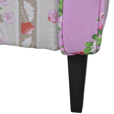 vidaXL Fotoliu cu design petice, material textil