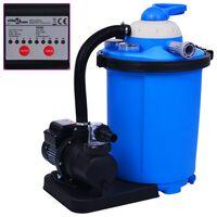vidaXL Pompă filtru cu nisip, cu temporizator, 550 W 50 L