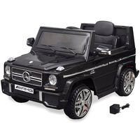 vidaXL Mașinuță ride-on SUV Mercedes Benz G65, 2 motoare, negru