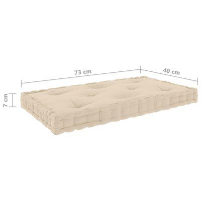 vidaXL Perne de podea pentru paleți, 3 buc., bej, bumbac