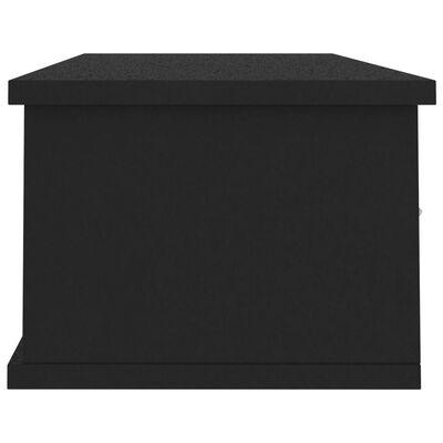vidaXL Dulap de perete cu sertare, negru, 88x26x18,5 cm, PAL