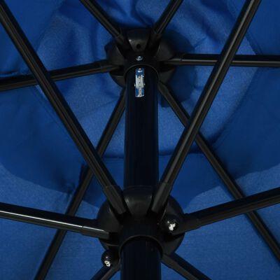 vidaXL Umbrelă de soare cu stâlp metalic, azur, 300 x 200 cm