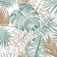DUTCH WALLCOVERINGS Tapet model frunze Monstera, verde
