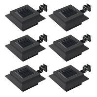 vidaXL Lămpi solare de exterior cu LED, 6 buc, negru, 12 cm, pătrat