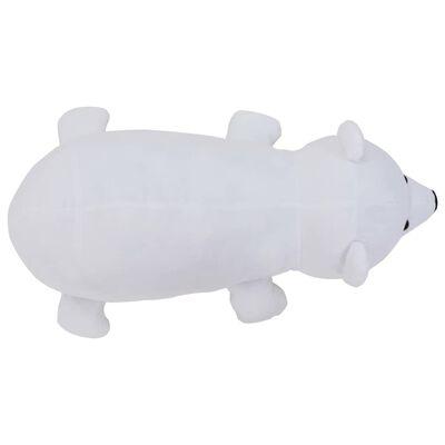 vidaXL Urs polar de jucărie, alb, pluș