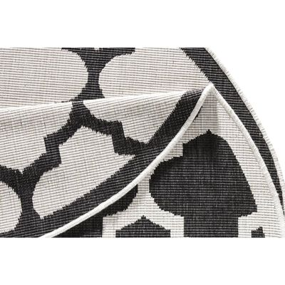 Covor Bougari Modern & Geometric Twin Supreme, Rotund, Negru, 140x140