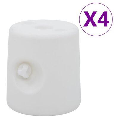 vidaXL Greutăți pentru pavilion, 4 buc., alb, PE