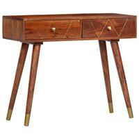 vidaXL Masă consolă, 90 x 35 x 76 cm, lemn masiv de acacia