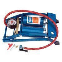 Draper Tools Pompă de picior dublu cilindru, albastru 25996