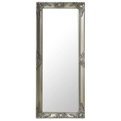 vidaXL Oglindă de perete în stil baroc, argintiu, 50 x 120 cm