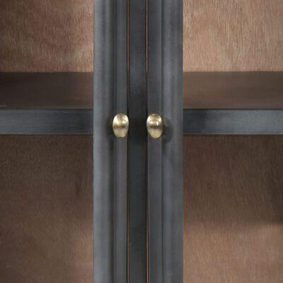 vidaXL Servantă, gri, 60x35x70 cm, lemn masiv de acacia și oțel