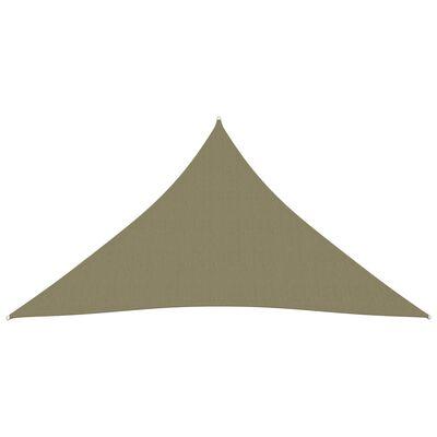 vidaXL Parasolar, bej, 5x6x6 m, țesătură oxford, triunghiular