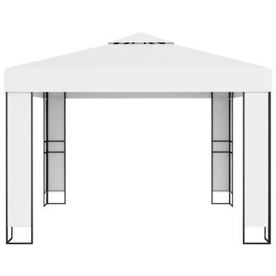 vidaXL Pavilion cu acoperiș dublu, alb, 3 x 3 m