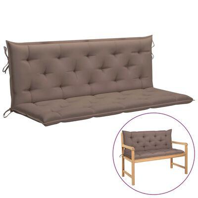 vidaXL Pernă pentru balansoar, gri taupe, 150 cm, material textil