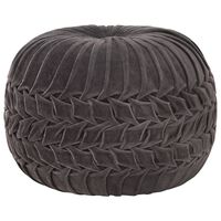 vidaXL Taburet puf design romburi antracit, 40x30 cm, bumbac & catifea