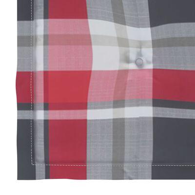 vidaXL Perne scaun grădină 4 buc. roșu model carouri 50x50x4 cm textil