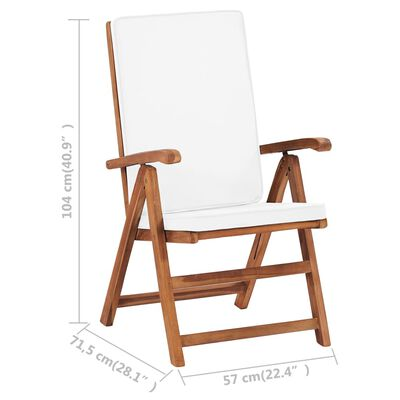 vidaXL Set mobilier de grădină cu perne, 7 piese, lemn masiv de tec