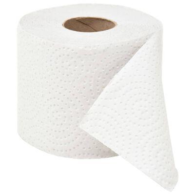 vidaXL Hârtie igienică gofrată, 2 straturi, 128 role, 250 șervețele