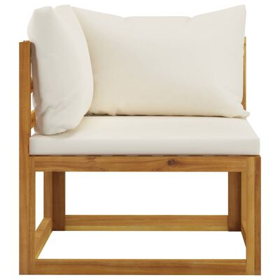 vidaXL Set mobilier grădină cu perne, 6 piese, lemn masiv acacia