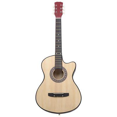 """vidaXL Chitară acustică occidentală, cu 6 corzi, 38"""", lemn de tei"""