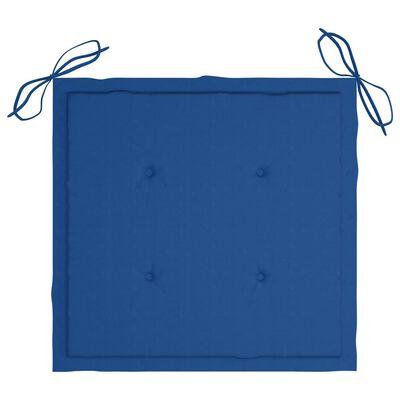 vidaXL Perne scaun grădină, 4 buc., albastru regal, 50x50x4 cm, textil