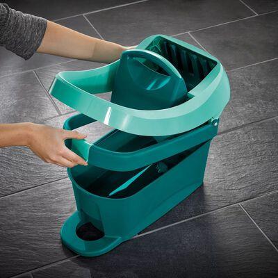Leifheit Set mop pentru pardoseală Profi cu cărucior, XL, verde, 55096
