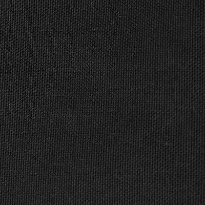 vidaXL Parasolar, negru, 5x5x5 m, țesătură oxford, triunghiular