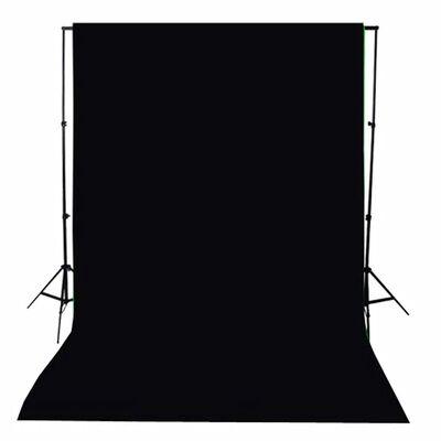 vidaXL Fundal foto, bumbac, negru, 300 x 300 cm